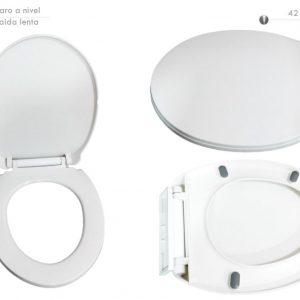 Asiento Caida Lenta Redondo Blanco Ref. PT-0013CC Smart