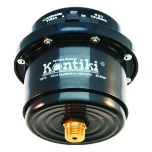 Ducha  Electrica  L/Cabezas  con Racor 110 vts  Negra  Ref K-095  Kontiki
