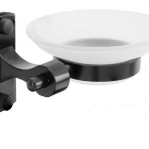 Jabonera Negra Rectangular En Aluminio Ref. YW143-07 Boccherini