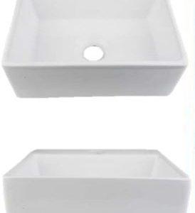 L / Manos   Porcelana  Blanco Cuadrado  M/Control  34 x 29  cms  Ref  7440A Smart