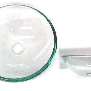 L / Manos  Vidrio  Transparente  Redondo  38 cms REF. AQ1001-380 Smart