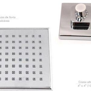 Regadera  Cuadrada  4″  Cromo  Ref CL-3909-4  Smart