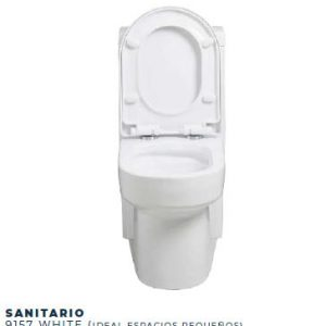 Sanitario  Doble Descarga One Piece Cuadrado Asiento Tipo Quadratto Blanco Ref. 9157 Imporceramicas