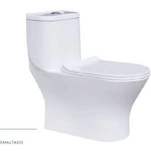 Sanitario  Doble Descarga One Piece Asiento Tipo Imola Blanco Ref. 9253 Imporceramicas